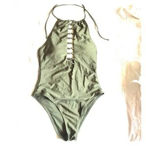 Other - One piece swim suit with ring details in front